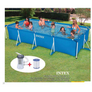 INTEX (ИНТЕКС) RECTANGULAR FRAME 28274 КАРКАСНЫЙ БАССЕЙН 450 x 220 x 84 cm!