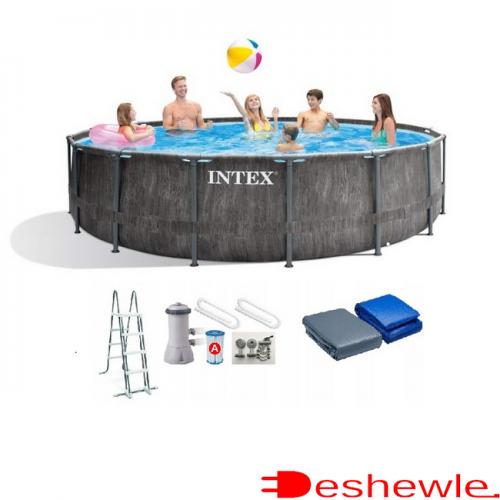 INTEX (ИНТЕКС) 26742 КРУГЛЫЙ БАССЕЙН КАРКАСНЫЙ 457х122 СМ