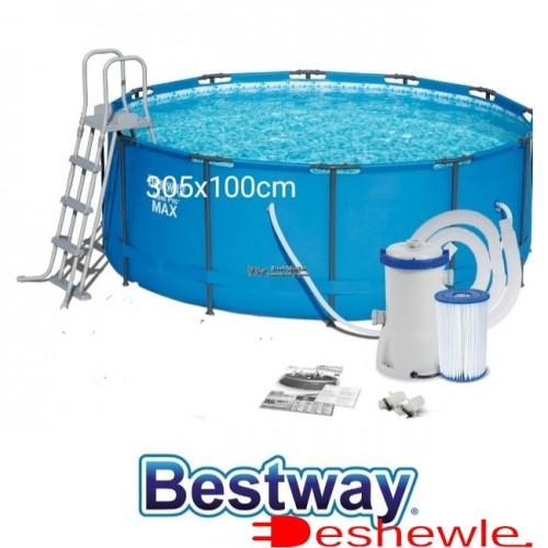 Комплект бассейн 305x100cm+лестница+фильтр-насос