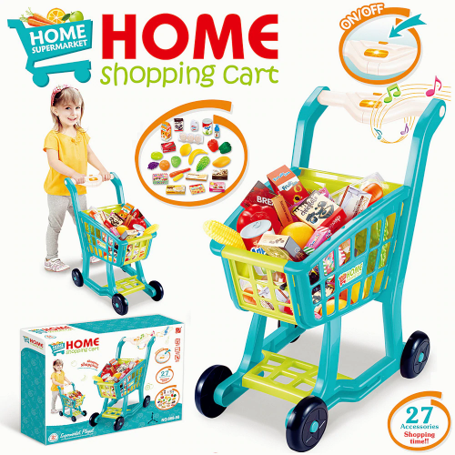 SHOPPING CHILDREN CART ТЕЛЕЖКА ДЛЯ СУПЕРМАРКЕТА 668-58 27PCS!