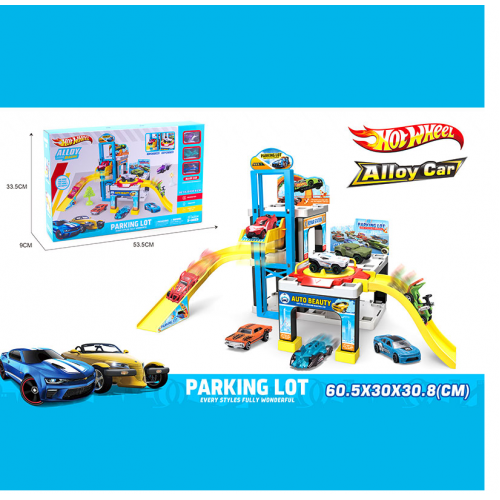 PARKING LOT HOT WHEELS 1211 ПАРКОВКА+3МАШИНКИ