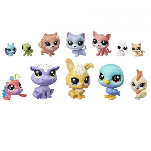 Hasbro Littlest Pet Shop 12 счастливх петов E3034EU4