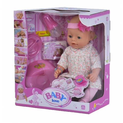 ПУПС ИНТЕРАКТИВНЫЙ BABY LOVE BL020B 8 ФУНКЦИЙ! 43 см!
