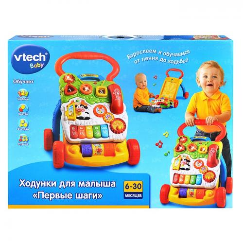 VTECH 80-077026 КАТАЛКА ПЕРВЫЕ ШАНИ 11МЕЛОДИЙ, ЗВУК, СВЕТ