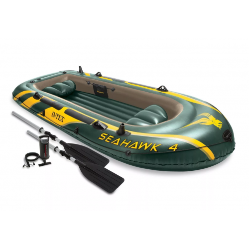 ЛОДКА Intex Seahawk 4 68351 351x145x48см!