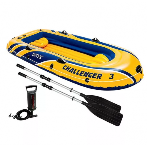 ЛОДКА Intex Challenger-3 Set 68370 295 x 137 x 43 см!