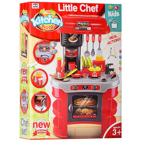 LITTLE CHEF КУХНЯ  008-908A 45,5х69х26,5 см! ЗВУК,СВЕТ!
