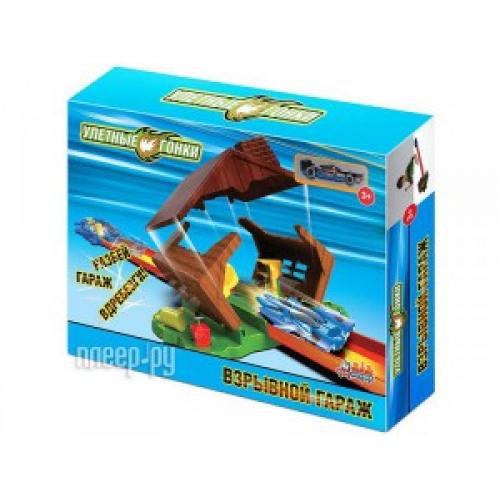Автотрек База игрушек Улетные гонки Взрывной гараж 4660007763900