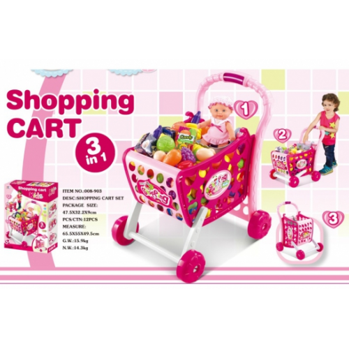 KIDS SHOPING CART 3 IN 1 008-903