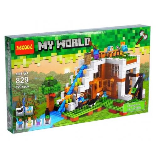 Конструктор Замок МАЙНКРАФТ My world DECOOL 829