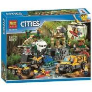 BELA CITIES КОНСТРУКТОР 10712 База исследователей джунглей 857PCS!