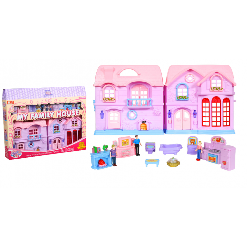 Дом  с мебелью и куклами 80310 73 х 49 х 12 см!