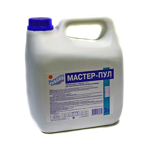 Жидкое безхлорное средство Маркопул-Кэмиклс Мастер-Пул 3л М21