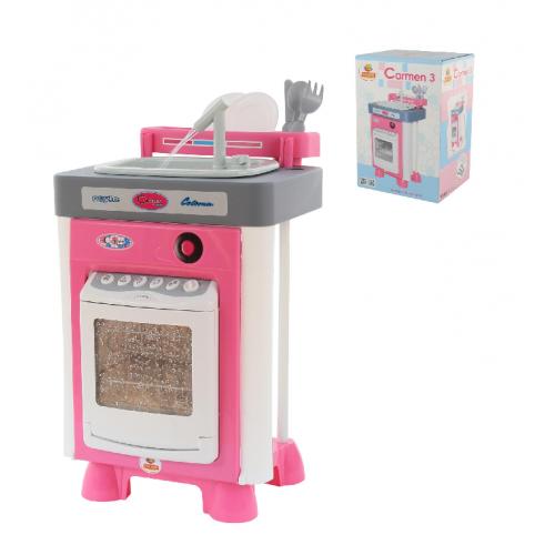 Игровой набор Полесье Carmen №3 с посудомоечной машиной и мойкой 57914