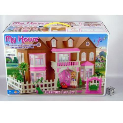 Деревянный кукольный домик 0959 59.5 x 29 x 31.5 см