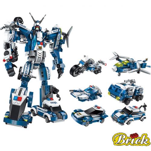 Конструктор в 6 роботов собирается 1407