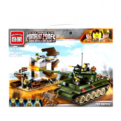 ENLIGHTEN КОНСТРУКТОР COMBAT ZONE (BRICK) 1711 214PCS!