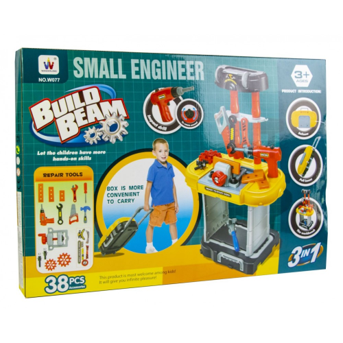 3 in 1 Build Beam – Small Engineer For Kid 38 PCS W077